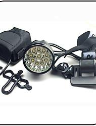economico -Luce frontale per bici / Fanale anteriore LED XM-L2 T6 Ciclismo Impermeabile, Resistente agli urti, Ricaricabile Solare 12000 lm Batteria Campeggio / Escursionismo / Speleologia / Ciclismo / Viaggi -