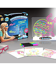 cheap -Drawing Toy / Drawing Tablet LED Lighting / Flourescent / 3D Plastic / Paper / ABS 100 pcs Pieces Gift