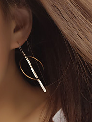 billige -Dame Kvast Stangøreringe / Store øreringe - Europæisk, minimalistisk stil Guld Til Fest / Daglig / Afslappet