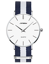cheap -SINOBI Men's Wrist Watch Water Resistant / Water Proof Fabric Band Charm Blue