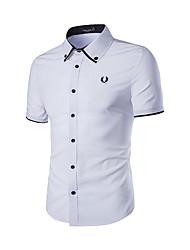 billige -Herre-Ensfarvet Farveblok Chic & Moderne T-shirt