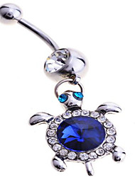 Femme Bijoux de Corps Anneaux de Nombril Argent sterling Imitation de diamant Original Mode Bijoux Bleu Bijoux Quotidien Décontracté 1pc