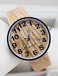 cheap -Men's Women's Couple's Quartz Unique Creative Watch Casual Watch Fabric Band Charm Wood Black White Beige
