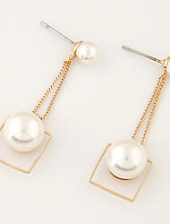 cheap -Drop Earrings Pearl Imitation Pearl Alloy Imitation Pearl Fashion Golden Jewelry Party Daily Casual 1 pair