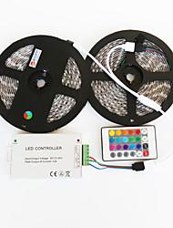 baratos -z®zdm 2x5m impermeável 144W 5050 SMD LED RGB lâmpada controlador de ferro linha de sinal tira 1 2 ir24 (DC12V 12a)