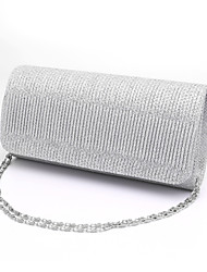 cheap -Women's Bags Polyester Evening Bag / Tri-fold Ruffles Stripe Black / Silver / Red / Wedding Bags / Wedding Bags