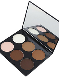 cheap -Maycheer 6 Color 2in1 Bronzer&Highlighting Contour Concealer Powder Bright&Matte Makeup Cosmetic Palette with Mirror