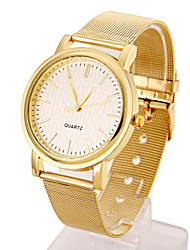 Women's Stainless Steel Gold Band Analog White Case  Wrist Watch Jewelry Cool Watches Unique Watches Fashion Watch Strap Watch