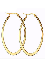 cheap -Women's Hoop Earrings Fashion Costume Jewelry Titanium Steel 18K gold Circle Oval Jewelry For Party Daily Casual