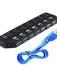 Недорогие -USB 3.0 7 портов / интерфейс USB-концентратор с отдельным переключателем 15.8 * 4.5 * 1.9