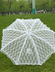 White Lace Wedding Unmbrellas for Bridal Parasols