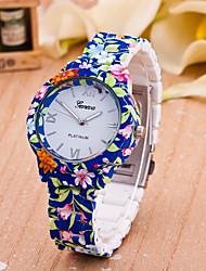 baratos -Mulheres Relógio de Moda Quartzo Venda imperdível Plastic Banda Flor Azul