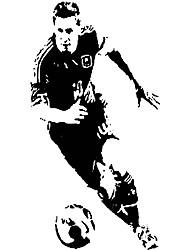 cheap -W061 Aiwall Argentine Football Wall Stickers Sport Vinyl Decals Barcelona Star Lionel Messi Dribbling