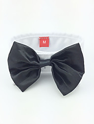 cheap -Dog Tie/Bow Tie Dog Clothes Black Costume For Pets Men's Wedding