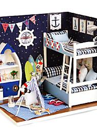 Недорогие -для дома, глядя на небо и творческого поделок дом ручной сборки модели здания и игрушки для нее день рождения