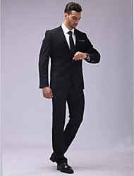 cheap -Tuxedos Slim Fit Slim Notch Single Breasted One-button Cotton / Polyester / PU / Nylon 6 Pieces Black / White