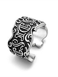 Ring Wedding / Party / Sports Jewelry Titanium Steel Men Ring 1pc,One Size Silver