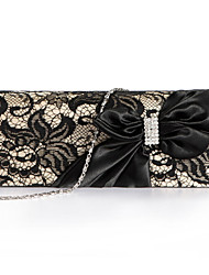Women Bags Spring Summer Fall Winter All Seasons Polyester Evening Bag Bowknot Lace for Wedding Event/Party Shopping Formal Office &