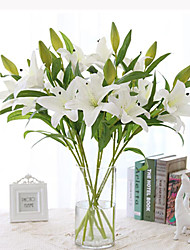 cheap -1 Set High Quality PU Simulation Lilies Decortive Fumishing Articles Floor Flower