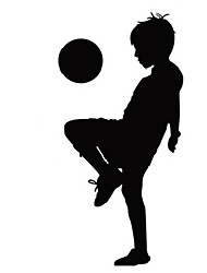 cheap -Fashion Kids Football Wall Decals Abstract / Leisure / Sports / 3D Wall Stickers Plane Wall Stickers,vinyl 116*57cm