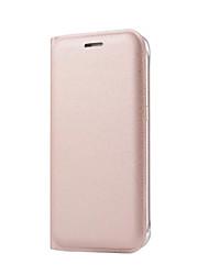 Недорогие -DE JI Кейс для Назначение SSamsung Galaxy Samsung Galaxy S7 Edge Бумажник для карт / Флип Чехол Однотонный Твердый Кожа PU для S7 edge / S7 / S6 edge plus