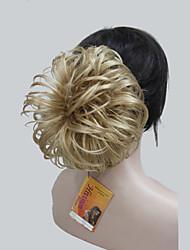 "Golden Blonde Dome Wiglet Drawstring Ponytail 6"" Bun Cover Hair Pieces E-KELLI 24B"