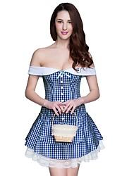 abordables -Serre Taille / Corset / Robes Corset / Set de Corset / Grande Taille Vêtement de nuit Femme,Sexy / Push-up / Lace / Rétro MosaïqueCoton /