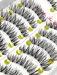 10 Pairs False Eyelashes  Fake Lashes Individual Lash Luster Lash Extensions High Quality Clear Strip Lash