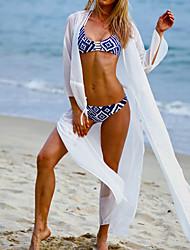 Women's Fashion Sexy White Chiffon Frenum Beach Dress