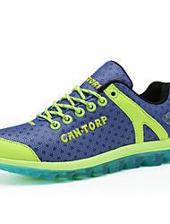 scarpe da corsa delle donne di Tulle piane scarpe da ginnastica di moda di comfort del tallone esterno giallo / verde / viola