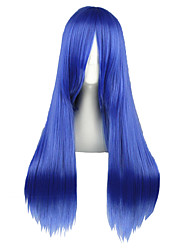 cheap -Cosplay Wigs Fairy Tail Mayoi Hachikuji Blue Medium Anime Cosplay Wigs 70 CM Heat Resistant Fiber Male / Female