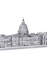 Недорогие -Пазлы 3D пазлы / Металлические пазлы Строительные блоки DIY игрушки Металл Розовый Модели и конструкторы