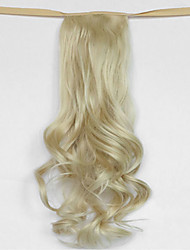 Water Wave Beige Blonde Synthetic Bandage Type Hair Wig Ponytail(Color 613)