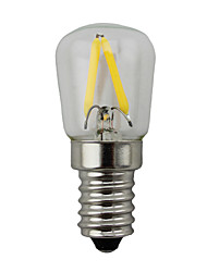 cheap -2W E14 LED Globe Bulbs S14 2 COB 150-200 lm Warm White 2700 K Dimmable AC 220-240 V 1pc