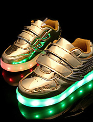 cheap -LED Light Up Shoes, Boys' Shoes Wedding / Outdoor / Casual Patent Leather Fashion Sneakers Pink / Silver / Gold shoes