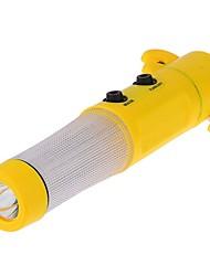 ziqiao martelo segurança do carro lanterna led ferramenta carro disjuntor rescure cinto de segurança de vidro cortador