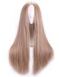 Natual Blonde Harajuku Cheap Cosplay Wigs Peruca Synthetic Wig Women Lolita Anime Wig Cosplay Hair Wig Long Straight