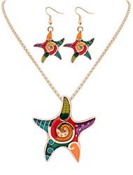 abordables -Mujer Conjunto de joyas - Estrella de mar Europeo, Moda Incluir Collar / pendientes Plata / Dorado Para Fiesta / Diario / Casual / Pendientes / Collare