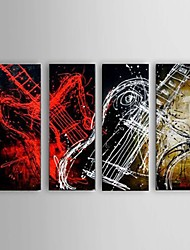 Handpainted oil painting Guitar Music Instrument Abstract home Decoration Wall Art Decor with Stretched Framed