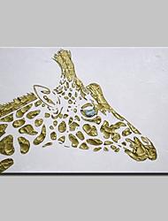 abordables -Peinture à l'huile Hang-peint Peint à la main - Animaux Moderne Avec Cadre