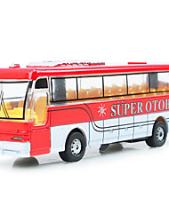 cheap -Dibang -2941 children's toy car model alloy light music bus toy stall selling toys (2PCS)