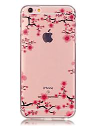 Pour iPhone X iPhone 8 iPhone 6 iPhone 6 Plus Etuis coque Transparente Motif Coque Arrière Coque Fleur Flexible PUT pour iPhone X iPhone