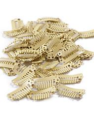 neitsi® 80pcs i-forma encaixar grampos grampos metálicos para extensões de cabelo diy clip-on (2,8 centímetros, preto, marrom, amarelo)