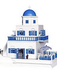 Недорогие -Чи весело дом поделки ручной работы кабины дом собран модель здания маленькая игрушка творческие подарки