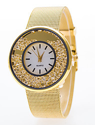 cheap -Women's Fashion Watch Quartz Casual Watch Alloy Band Analog Silver / Gold - Silver Golden