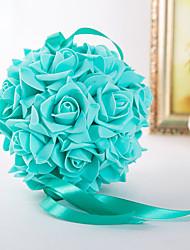 economico -6 pollici (15 cm) schiuma di fiori palla rosa per la decorazione di nozze accessori da sposa