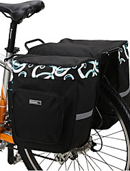 cheap -Bike Bag 30L Panniers & Rack Trunk Waterproof Wearable Shockproof Bicycle Bag 600D Polyester Mesh Cycle Bag