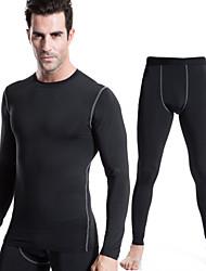 Per uomo Sottomaglia Asciugatura rapida Traspirante Calze/Collant/Cosciali T-shirt Set di vestiti Pantaloni per Esercizi di fitness Corsa