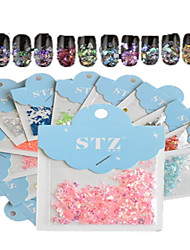 cheap -1set includ 12 colors paper card nail art glitter beautiful geometric shape like shell stickers nail art decoration