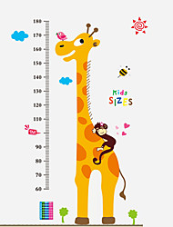 cheap -60-180Cm Cartoon Giraffe Animals Wall Stickers Environmental Kindergarten Kids Bedroom Wall Decals